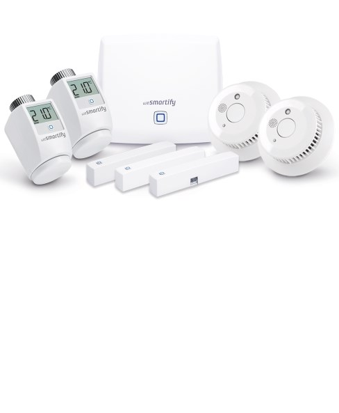 Smart Home Starter-Set Sicherheit und Heizung (3 / 5 Räume)