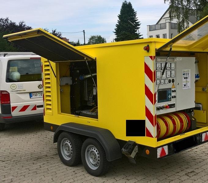 Vermietung mobiler Stromerzeugungsanlagen