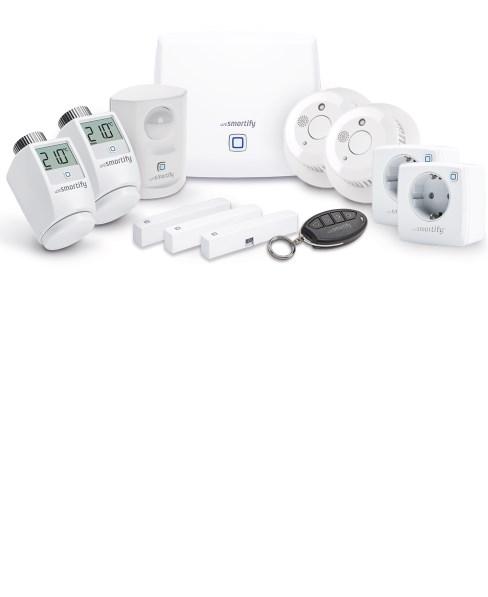 Smart Home Starter-Set Sicherheit, Heizung und Licht (3 / 5 Räume)