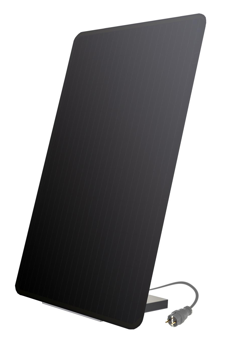 Comfort-Set: Plug-In Solarmodul MEIN KRAFTWERK - Black Edition inkl. Montagekit